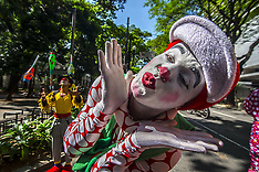 Brazil: Protest clowns, 24 Oct. 2016