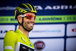 Luka Mezgec (SLO) of Mitchelton - Scott at trophy ceremony during 3rd Stage of 26th Tour of Slovenia 2019 cycling race between Zalec and Idrija (169,8 km), on June 21, 2019 in Slovenia. Photo by Matic Klansek Velej / Sportida
