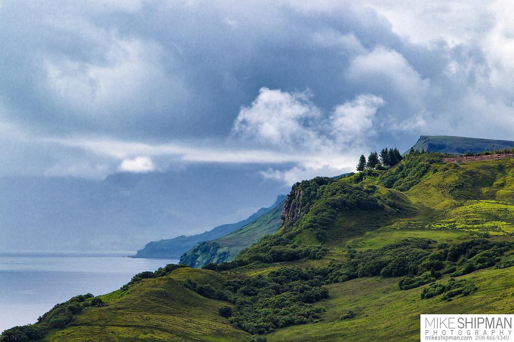 Clearing storm, east coast Isle of Skye.