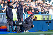 Leeds United Manager Marcelo Bielsa  during the EFL Sky Bet Championship match between Huddersfield Town and Leeds United at the John Smiths Stadium, Huddersfield, England on 7 December 2019.