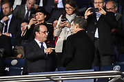 Former French Presidents Francois Hollande and Nicolas Sarkozy attend the UEFA Champions League, Group B football match between Paris Saint-Germain and Bayern Munich on September 27, 2017 at Parc des Princes stadium in Paris, France - Photo Jean Marie Hervio / Regamedia / ProSportsImages / DPPI