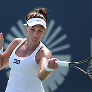 Casey Dellacqua, Australia, in action during the Connecticut Open at the Connecticut Tennis Center at Yale, New Haven, Connecticut, USA. 17th August 2014. Photo Tim Clayton