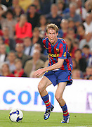 Alexander Hleb pulls a funny face whilst attacking for Barca. Barcelona v Osasuna (0-1), La Liga, Nou Camp, Barcelona, 23rd May 2009.