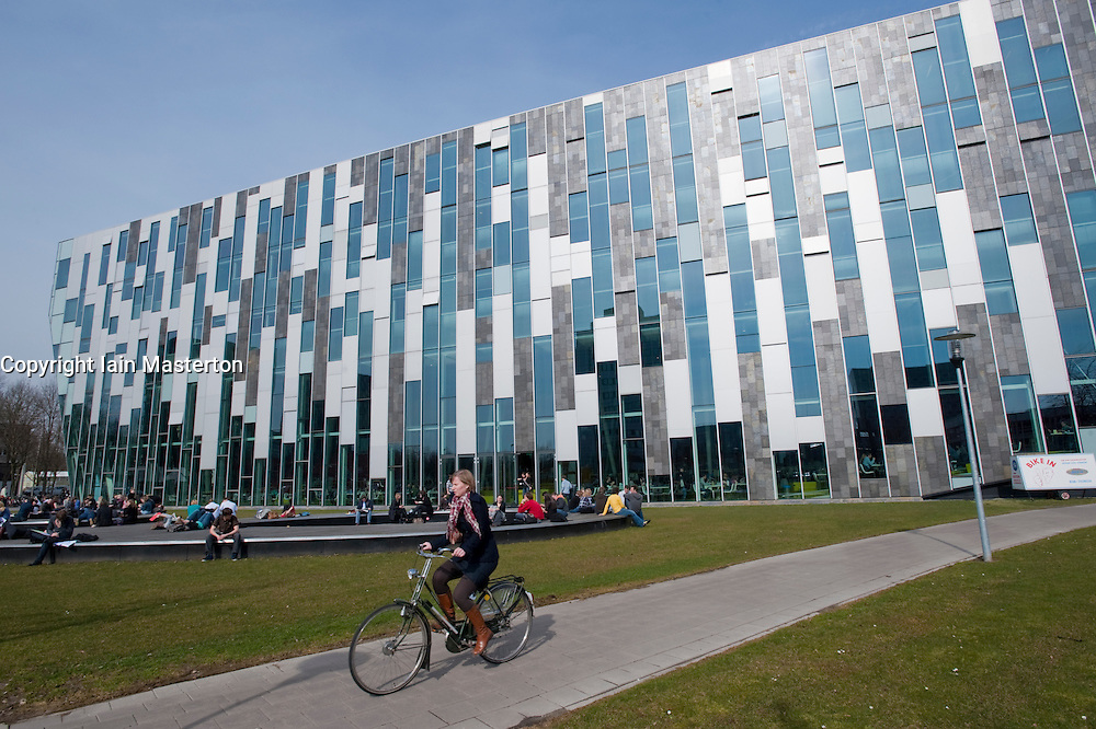 Exterior of modern Dr AA Heimans van den Bergh-building at Utrecht University in The Netherlands; architect Erick van Egeraat