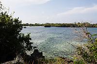 in the beautiful chale island near mombassa kenya