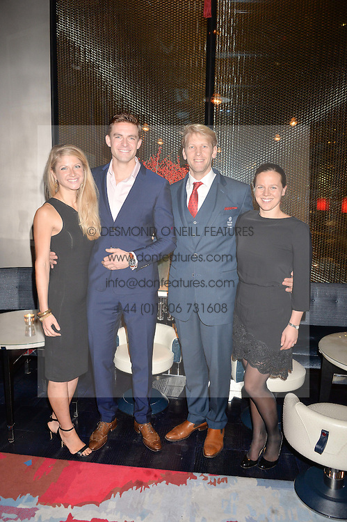 LONDON, ENGLAND 8 DECEMBER 2016: Jeannie Corby, Peter Reed, Andrew Hodge, Eeke Triggs-Hodge at the Omega Constellation Globemaster Dinner at Marcus, The Berkeley Hotel, Wilton Place, London England. 8 December 2016.
