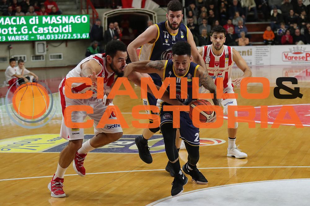 Garrett Diante Mauricice<br /> Openjobmetis Varese - Fiat Torino<br /> Lega Basket Serie A 2017/2018<br /> Varese, 14/01/2018<br /> Foto Ciamillo - Castoria