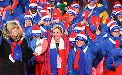 18.03.2017, Planai-Stadion, Schladming, AUT, Special Olympics 2017, Wintergames, Eröffnungsfeier, im Bild der Einmarsch der Delegation aus Frankreich // the delegation of Franc during the opening ceremony in the Planai Stadium at the Special Olympics World Winter Games Austria 2017 in Schladming, Austria on 2017/03/17. EXPA Pictures © 2017, PhotoCredit: EXPA / Martin Huber