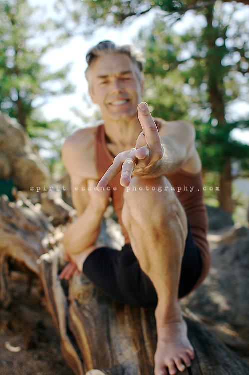 Richard Freeman in asana yoga practice