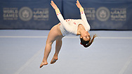 Abu Dhabi, United Arab Emirates - 2019 March 15: Anne Marie Bugeja from SO Malta competes in gymnastics while Special Olympics World Games Abu Dhabi 2019 on March 15, 2019 in Abu Dhabi, United Arab Emirates. (Mandatory Credit: Photo by (c) Adam Nurkiewicz)