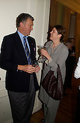 hon William Shawcross and Sigrid Rausing, Party to celebrate the publication of ' The Swallow and the Hummingbird by Santa Sebag-Montefiore. The English Speaking Union. 15 March 2004. ONE TIME USE ONLY - DO NOT ARCHIVE  © Copyright Photograph by Dafydd Jones 66 Stockwell Park Rd. London SW9 0DA Tel 020 7733 0108 www.dafjones.com