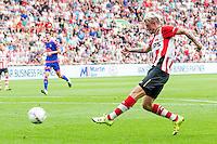 EINDHOVEN - PSV - Feyenoord , Voetbal , Seizoen 2015/2016 , Eredivisie , Philips Stadion , 30-08-2015 , PSV speler Maxime Lestienne scoort de 1-1