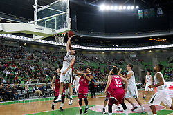 Sava Lesic of Union Olimpija during basketball match between KK Union Olimpija Ljubljana and Telekom Baskets Bonn (GER) in Round 3 of EuroCup 2015/16, on October 28, 2015 in Arena Stozice, Ljubljana, Slovenia. Photo by Matic Klansek Velej / Sportida.com