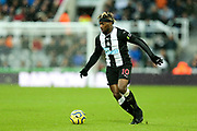 Allan Saint-Maximin (#10) of Newcastle United during the Premier League match between Newcastle United and Southampton at St. James's Park, Newcastle, England on 8 December 2019.