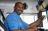 School Bus Driver in School Bus