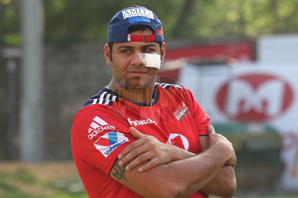 Sujit Nayak of the Delhi Daredevils during the Delhi Daredevils training session  held at the Feroz Shah Kotla Stadium in Delhi on the 5rd April 2013..Photo by Shaun Roy/IPL/SPORTZPICS  ..Use of this image is subject to the terms and conditions as outlined by the BCCI. These terms can be found by following this link:..http://www.sportzpics.co.za/image/I0000SoRagM2cIEc