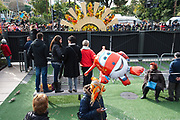 France, Nice, 11 February 2017. Carnaval de Nice, first day, scene at Jardin du Paillon, outside of parade zone before the Flower Parade begins.