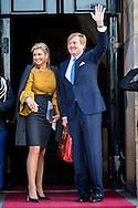 17-1-2017 AMSTERDAM - King Willem-Alexander and Queen Maxima hold Tuesday, January 17th, 2017 the traditional New Year Reception for Dutch guests. The receptions are held in the Royal Palace in Amsterdam. Both receipts Royal Highnesses Princess Beatrix and Princess Margriet of the Netherlands and Professor Pieter van Vollenhoven present. COPYRIGHT ROBIN UTRECHT<br /> 17-1-2017 AMSTERDAM - Koning Willem-Alexander en Koningin Maxima houden dinsdag 17 januari 2017 de traditionele Nieuwjaarsontvangst voor Nederlandse genodigden.  De recepties vinden plaats in het Koninklijk Paleis Amsterdam. Bij beide ontvangsten zijn Koninklijke Hoogheden Prinses Beatrix en Prinses Margriet der Nederlanden en prof.mr. Pieter van Vollenhoven aanwezig . COPYRIGHT ROBIN UTRECHT