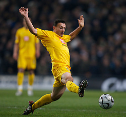 MANCHESTER, ENGLAND - Tuesday, December 18, 2007: Tottenham Hotspur's Steed Malbranque in action against Manchester City during the League Cup Quarter Final match at the City of Manchester Stadium. (Photo by David Rawcliffe/Propaganda)