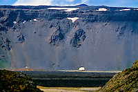 Iceland. Volcanic landscape at the Krafla caldera.