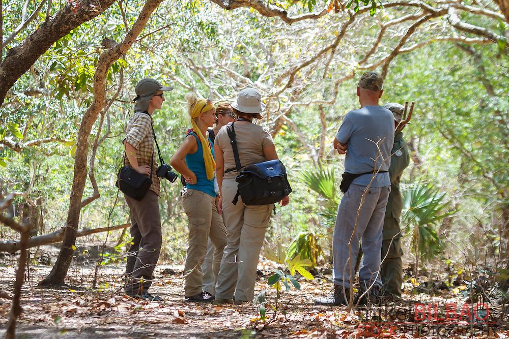 Visitors. Rinca island. Komodo National Park. Indonesia.