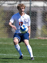 Virginia Cavaliers defender Greg Monaco (17). The North Carolina State Wolfpack defeated the Virginia Cavaliers 1-0 in NCAA Men's Soccer during a spring scrimmage at the Klockner Stadium practice field on the Grounds of the University of Virginia in Charlottesville, VA on April 4, 2009.