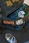 Golf Cart Black Texas Hold'em, Poker, Cards,  Custom, Classic, Unique,
