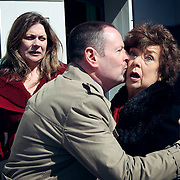 Fair City Eps 70<br /> TX:  Sunday 28th April, 2013<br /> Dermot kiss Esther to cover up his romance <br /> L-R<br /> Jo - Rachel Sarah Murphy<br /> Dermot - Seamus Power<br /> Esther - Eileen Colgan