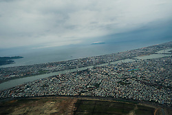 Aerial view of Danang City, Vietnam, Southeast Asia