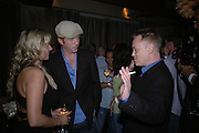 Abi Titmuss, Damian Lewis and Terry Christian. Rushes Soho Shorts Awards evening. 23 Coventry St. London. 4 August 2005. ONE TIME USE ONLY - DO NOT ARCHIVE  © Copyright Photograph by Dafydd Jones 66 Stockwell Park Rd. London SW9 0DA Tel 020 7733 0108 www.dafjones.com