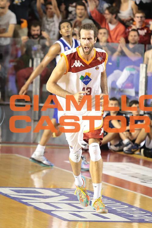 DESCRIZIONE : Roma Lega A 2012-2013 Acea Roma Lenovo Cantu playoff semifinale gara 7<br /> GIOCATORE : Datome Luigi<br /> CATEGORIA : esultanza<br /> SQUADRA : Acea Roma<br /> EVENTO : Campionato Lega A 2012-2013 playoff semifinale gara 7<br /> GARA : Acea Roma Lenovo Cantu<br /> DATA : 06/06/2013<br /> SPORT : Pallacanestro <br /> AUTORE : Agenzia Ciamillo-Castoria/M.Simoni<br /> Galleria : Lega Basket A 2012-2013  <br /> Fotonotizia : Roma Lega A 2012-2013 Acea Roma Lenovo Cantu playoff semifinale gara 7<br /> Predefinita :