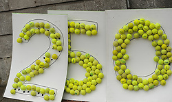 Anyone for Tennis, Westport 250 represented by Westport Tennis Club at the parade on sunday.<br />Pic Conor McKeown