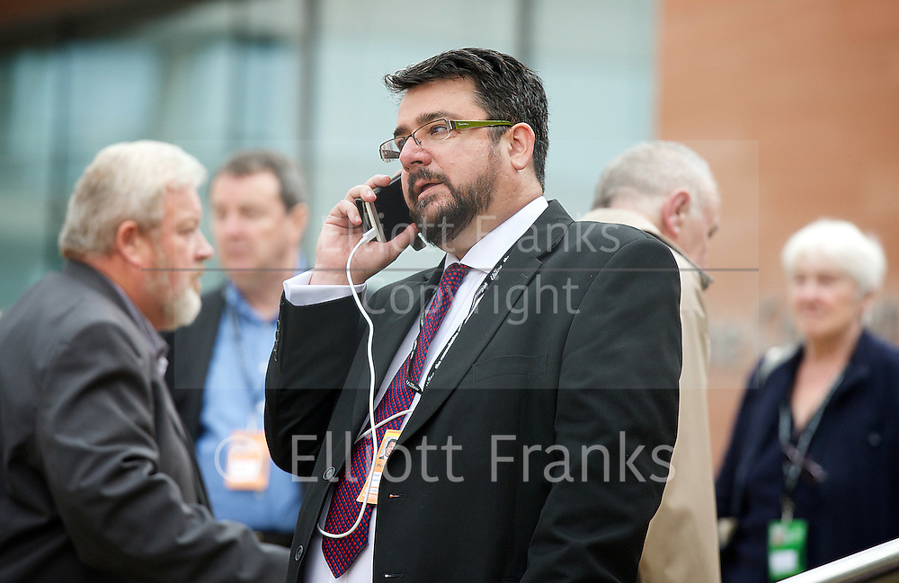 Labour Party Conference <br /> at Manchester Central, Manchester, Great Britain <br /> 23rd September 2014 <br /> <br /> Paul Staines<br /> of Guido Fawkes<br /> <br /> <br /> Photograph by Elliott Franks <br /> Image licensed to Elliott Franks Photography Services