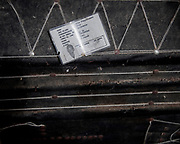 An ID card of a dead relative is placed on the coffin.<br /> <br /> Ma'nene is a tradition that takes place in August after harvest where the bodies of the dead loved ones are exhumed to be cleaned, groomed and dressed. For most, it's a bittersweet moment, a chance to reunite and physically see and touch and reconnect with loved ones who had passed on.