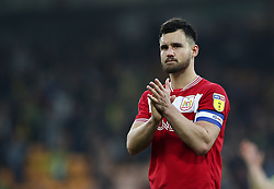 Bailey Wright of Bristol City applauds the travelling fans - Mandatory by-line: Arron Gent/JMP - 23/02/2019 - FOOTBALL - Carrow Road - Norwich, England - Norwich City v Bristol City - Sky Bet Championship