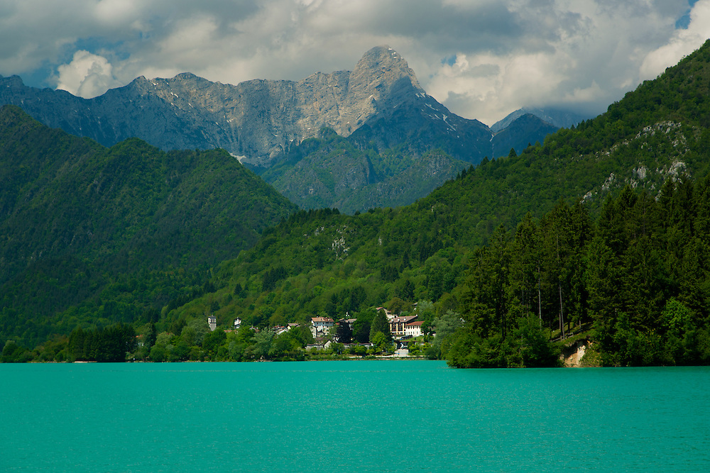 Lake Barcis, located in the heart of Valcellina, province of Pordenone, Italy