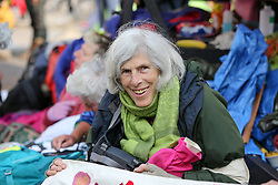 © Licensed to London News Pictures. 17/04/2019. London, UK. Environmental activist on day three of their ongoing protest camps at the junction of Oxford Street and Regents Street demanding decisive action from the UK Government on the environmental crisis. Photo credit: Dinendra Haria/LNP