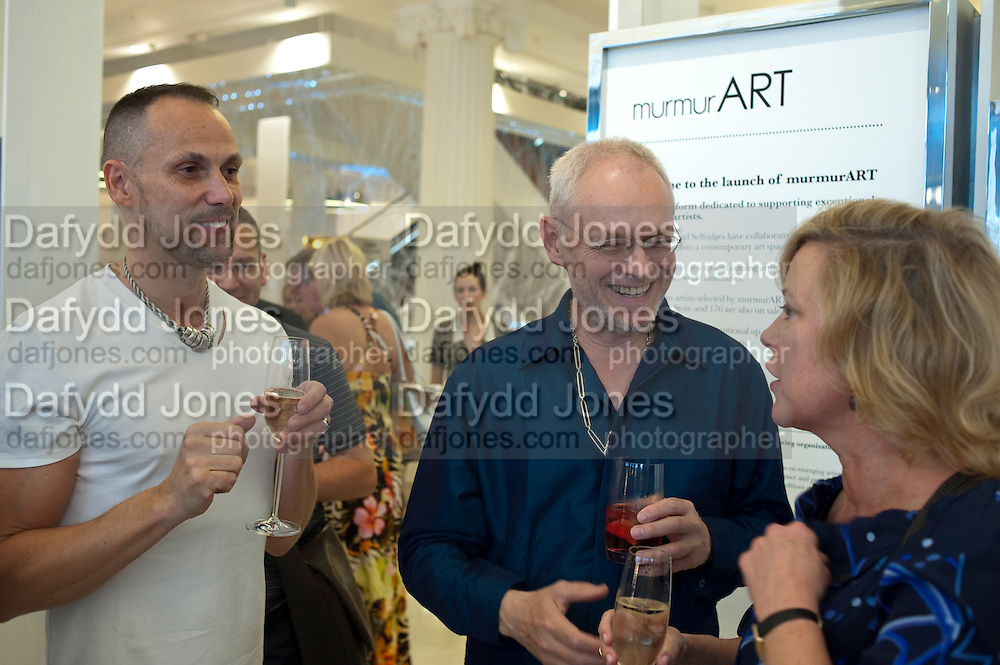 BOUKE DE VRIES; MILES CHAPMAN; KAY SAATCHI; , The launch of murmurART, The Wonder Room. SELFRDIGES, Oxford St.