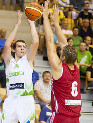 Goran Dragic of Slovenia during friendly match between National teams of Slovenia and Latvia for Eurobasket 2013 on August 2, 2013 in Arena Zlatorog, Celje, Slovenia. (Photo by Vid Ponikvar / Sportida.com)