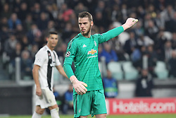 November 7, 2018 - Turin, Piedmont, Italy - David de Gea (Manchester Utd. FC) during the UEFA Champions League match between Juventus FC and Manchester United FC,  at Allianz Stadium on November 07, 2018 in Turin, Italy..Juventus FC lost 1-2 against Manchester United. (Credit Image: © Massimiliano Ferraro/NurPhoto via ZUMA Press)