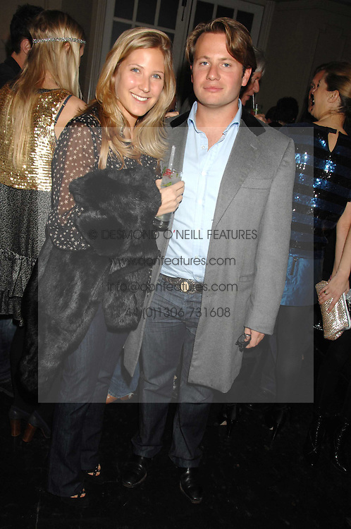 GEORGE BAMFORD and LEONORA PEARL at a leaving party for Poppy Delevigne who is going to New York to persue a career as an actress, held at Chloe, Cromwell Road, London on 25th January 2007.<br /><br />NON EXCLUSIVE - WORLD RIGHTS