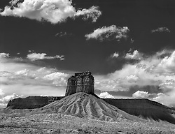 Monument and Sky, near Shiprock, New Mexico