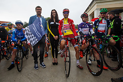 Major of Rogaška Slatina Branko Kidric, playboy girl Manja and Taaramae Rein (Estonia) of Team Katusha during Stage 4 of 23rd Tour of Slovenia 2016 / Tour de Slovenie from Rogaska Slatina to Novo mesto (165,5 km) cycling race on June 19, 2016 in Slovenid. Photo by Grega Valancic / Sportida