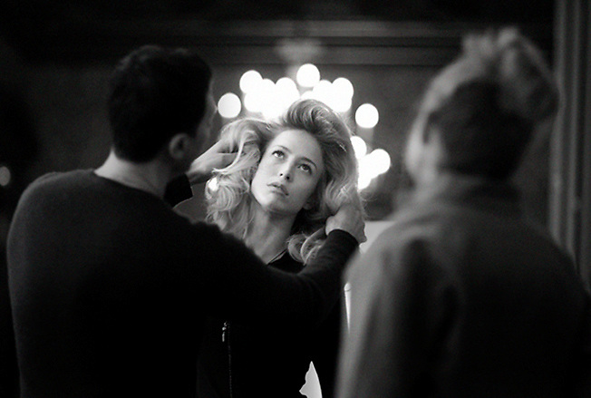 Backstage Chloé Parfum, Raquel Zimmermann Chloé parfum new campaign shoot in paris with Raquel Zimmerman