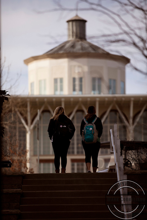 Chilly day on Campus on Wednesday February 15, 2017. Photo by Mark Cornelison | UKphoto