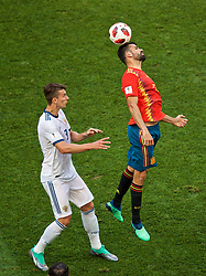 MOSCOW, RUSSIA - Sunday, July 1, 2018: Spain's Diego Costa during the FIFA World Cup Russia 2018 Round of 16 match between Spain and Russia at the Luzhniki Stadium. (Pic by David Rawcliffe/Propaganda)