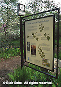 Signage, Morris Arboretum of the University of Pennsylvania, Philadelphia gardens and arboretums, Chestnut Hill, Philadelphia, PA.