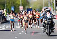 Women's elite race pace runners<br /> The Virgin Money London Marathon 2014<br /> 13 April 2014<br /> Photo: Jed Leicester/Virgin Money London Marathon<br /> media@london-marathon.co.uk