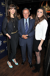 Left to right, EMILY BROOKE, LORD McLAURIN and CLAIRE WILLS at the launch of the Johnnie Walker Blue Label Club held at The Scotch, Mason's Yard, London on 1st May 2012.