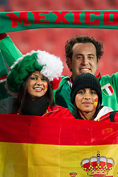 Fans of Spain and Mexico during the 2010 FIFA World Cup South Africa Group H Second Round match between Spain and Honduras on June 21, 2010 at Ellis Park Stadium, Johannesburg, South Africa.  Spain defeated Honduras 2-0. (Photo by Vid Ponikvar / Sportida)